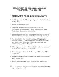 Icon of Swimming Pool Requirements 2020