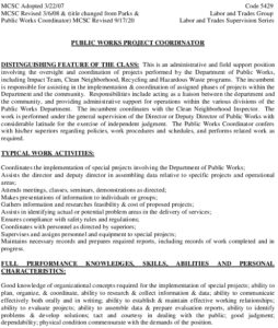 Icon of PUBLIC WORKS PROJECT COORDINATOR