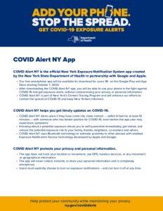 COVID AlertNY OnePager V5