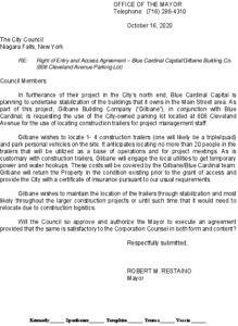 Icon of #5 Mayor Ltr - Right Of Entry Agreement - Gilbane- Blue Cardinal