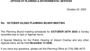 Icon of Planning Board Meeting 10/28/2020 - Cancelled