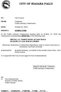 Icon of #8 Council Agenda OCT Handicap - 1825 North Ave