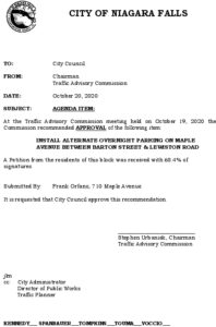 Icon of #12 Council Agenda OCT Alt Overnight - Maple Ave