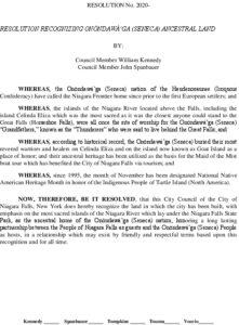 Icon of #6 Seneca Honor Resolution