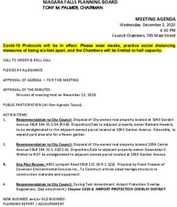 Icon of Planning Board Meeting 12/2/2020