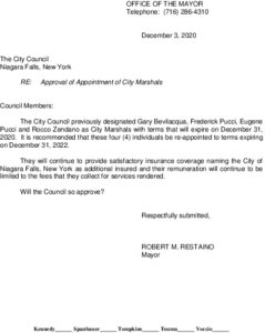 Icon of #2 Approval Of Appointment Of City Marshals