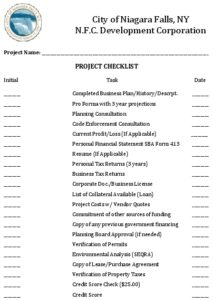 Icon of NFC Project Intake Checklist