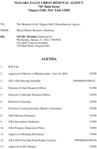 Icon of URA Meeting Agenda 1/27/2021