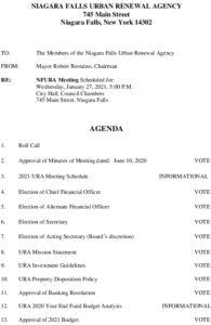 Icon of URA Meeting Agenda 1/27/2021