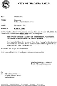 Icon of #7Council Agenda Remove Parking -Main Street