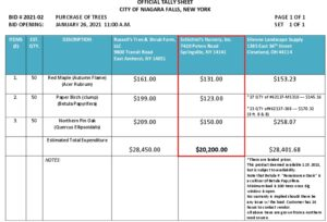 Icon of #2a Purchase Of Trees Bid #2021-02 Official Tally Sheet