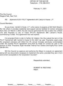 Icon of #6 Mayor Ltr - Carolyns House PILOT 2021