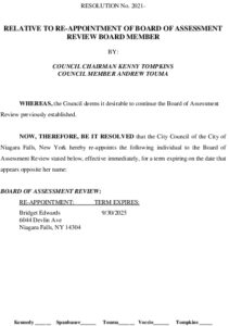 Icon of #4 Board Of Assessment - Re-Appointment