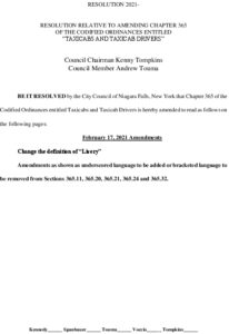 Icon of #5 Resolution Taxicabs And Livery Ordinance