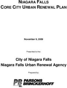 Icon of Niagara Falls Core City Urban Renewal Plan (2009)