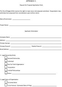 Icon of Appendix C - RFP Application Form