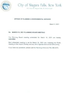 Icon of March 10th Planning Board Meeting Cancellation