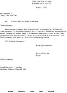 Icon of #8 Mayor Finance Reorg - Account Clerk -