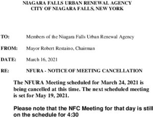 Icon of URA MeetingCancelled