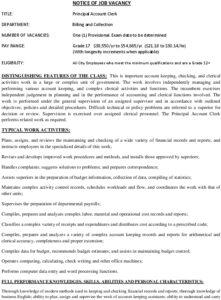 Icon of Principal Account Clerk 031921