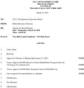 Icon of NFC Board Of Directors Meeting Agenda 3