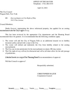 Icon of #9.1611 Pine Avenue - Encroachment Request