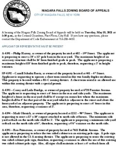 Icon of ZBA Agenda 5-18-2021