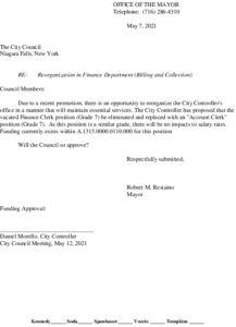 Icon of #3 Mayor Finance Reorg - Account Clerk - Billing - 21