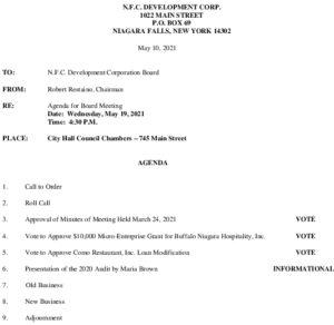 Icon of NFC Board Of Directors Meeting Agenda 5