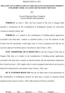 Icon of #7 Resolution - Moratorium Clarification - Building Permits