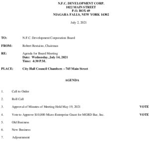 Icon of NFC Board Of Directors Meeting Agenda 7