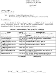Icon of #7 Mayor - Extension Of Covid-19 Grant (CDBG-ESG)