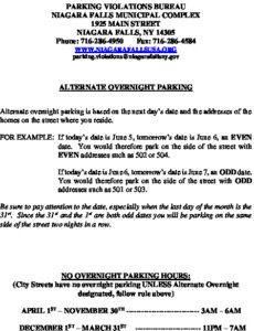 Icon of Alternate Overnite Parking Rules