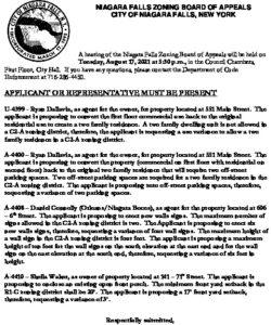Icon of ZBA Agenda 8-17-21