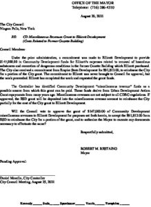Icon of #2 Mayor - CD  Funds For Ellicott Development Reimbursement