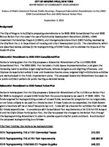 Icon of Draft NFCD Substantial Amendment Public Notice For 2020 AAP 090121 Final Cms