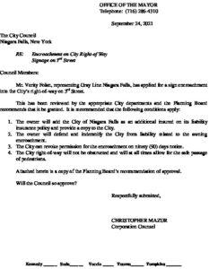 Icon of #6 Encroachment Request - Gray Line Niagara Falls
