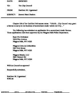 Icon of #3 City Council Agenda 09292021 SECONDHAND DEALERS